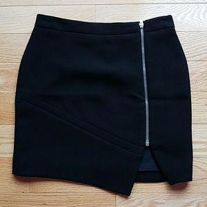 IRO black crepe front zip mini skirt - size 4